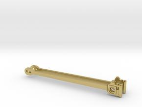 drijfstang SS 651, NS 8100 spoor 0 in Natural Brass