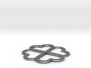 CloverKnot in Fine Detail Polished Silver
