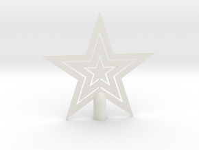 """Star tree topper Christmas - Large Strong 24cm 9½"""" in White Natural Versatile Plastic: Large"""