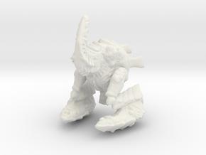 Flame Alien in White Natural Versatile Plastic