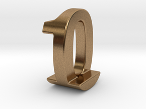 Zero One Pendant in Natural Brass