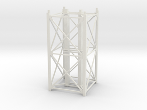 """1/64th """"S"""" Scale Grain Leg/Tower 20ft Section in White Natural Versatile Plastic"""