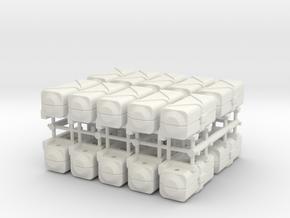 Life raft container - 1:100 - 20x in White Natural Versatile Plastic