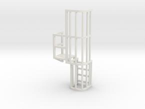 Ladder Cage Platform Left in White Natural Versatile Plastic