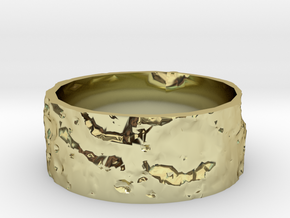 Lunar Surface Ring in 18k Gold Plated Brass