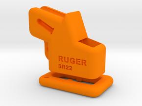 Ruger-SR22-EZ Loader & Pull down collar. in Orange Processed Versatile Plastic