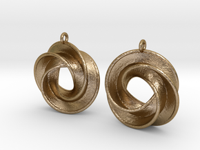 Intersecting-Mobius 1 in Polished Gold Steel