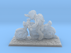 1/64 Gaslands Nameless Hero Motorcycle Rider in Smooth Fine Detail Plastic