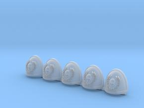 Skull and Laurel Mk7/8 shoulder pads x5 in Smooth Fine Detail Plastic