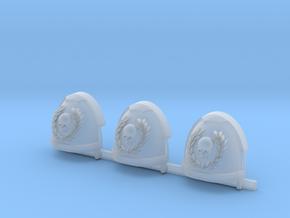 Skull and Laurel Gravus shoulder pads x3 R in Smooth Fine Detail Plastic