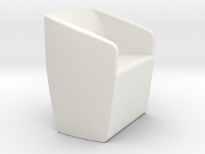 1/12 Scale Livingroom Chair in White Natural Versatile Plastic