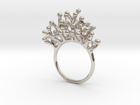 Ring Botryoides in Rhodium Plated Brass: 4 / 46.5