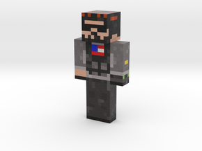 Navy Seal | Minecraft toy in Natural Full Color Sandstone