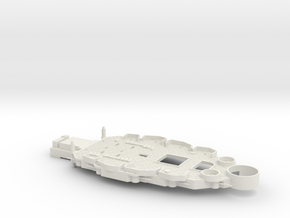 1/350 USS Oklahoma (1941) Lower Superstructure in White Natural Versatile Plastic