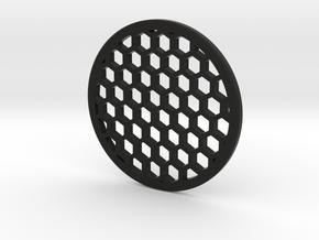 Honeycomb 52.5mm in Black Natural Versatile Plastic