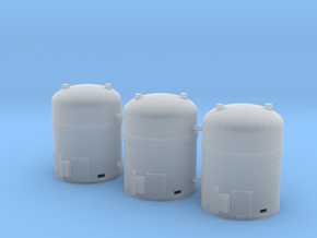 1/87th Hazardous Materials Containers (3) in Smooth Fine Detail Plastic
