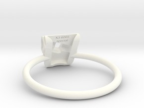 KHD X3 espresso Ring Big 60-65mm SPECIAL in White Processed Versatile Plastic