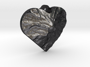 Rainier Heart in Polished and Bronzed Black Steel