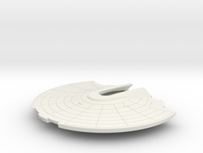 1/1000 USS Ranger Saucer Detailed in White Natural Versatile Plastic