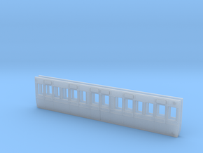 4mm scale GWR S5 third 4 compartment carriage side in Smooth Fine Detail Plastic