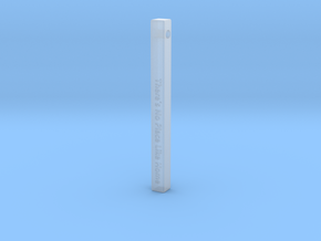 "Vertical Bar Pendant ""There's no place like home"" in Smooth Fine Detail Plastic"