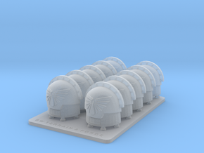 Legions Of Michael V7 Compound Style Shoulder Pads in Smooth Fine Detail Plastic