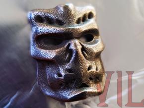 UBER Pendant ⛧ VIL ⛧ in Polished Bronzed-Silver Steel