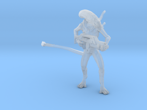 Alien Jeri Synthetic 1/60 Miniature for games rpg in Smooth Fine Detail Plastic
