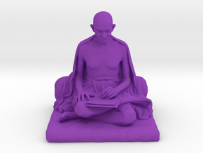 Gandhi with letter in Purple Processed Versatile Plastic: Medium