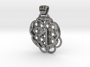 Chain Mail Pendant Z in Polished Silver