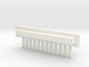 12 tine Gel Comb (single piece) in White Processed Versatile Plastic