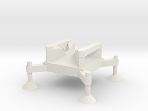 1/72 Scale Corporal Missile Launch Pad in White Natural Versatile Plastic