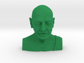 Gandhi by Enrique Garcia in Green Processed Versatile Plastic: Small