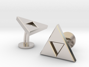 Zelda Triforce Cufflinks in Rhodium Plated Brass