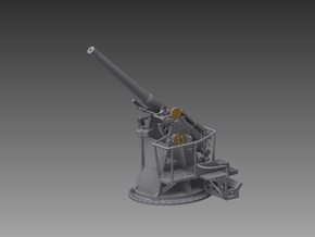 4 inch QF MKV 1943 1/96 in Smooth Fine Detail Plastic