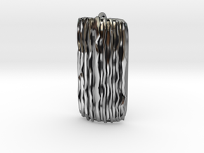 Groovy Bend pendant in Antique Silver