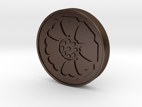 Avatar: the Last Airbender - White Lotus Tile in Polished Bronze Steel