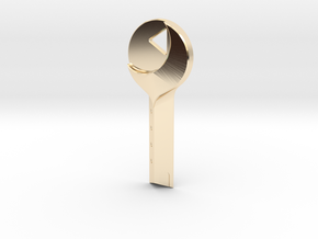 Mulholland Drive - Blue Key in 14K Yellow Gold