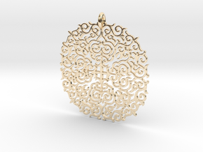 Ornate pendant (from $7.48) in 14k Gold Plated Brass