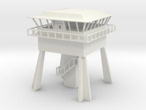 N scale control tower in White Natural Versatile Plastic