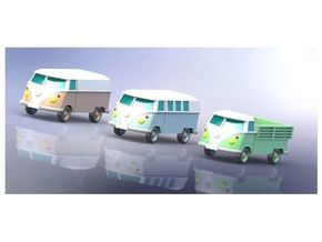 VW Transporter Type T1 1/200 in Smooth Fine Detail Plastic