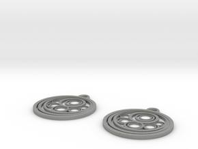 Geometrical earrings no.10 in Gray PA12: Small