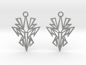 Dark symmetry earrings in Gray PA12: Small