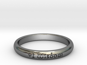 Ring of Wisdom in Polished Silver: 5 / 49