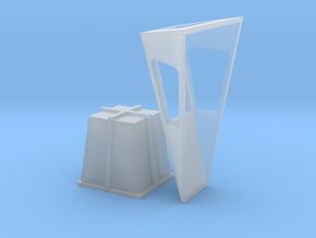 1/96 scale Helo Landing Window - Nansen specific in Smooth Fine Detail Plastic