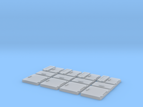 1/96 scale Ship Panels in Smooth Fine Detail Plastic
