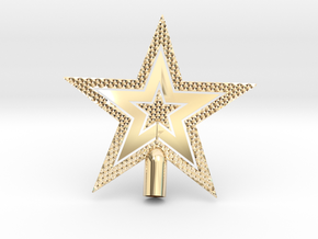 "Star Glisten Tree Topper - 9cm 3½"" in 14k Gold Plated Brass"