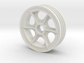 Tamiya Super Astute Front Left Wheel 2.2 inch in White Natural Versatile Plastic