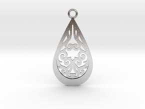 Persephone pendant metal in Natural Silver: Medium