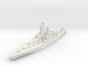 West Virginia Battleship 1944 1/1800 in White Natural Versatile Plastic